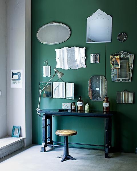 Parede verde Via Colorful Interiors