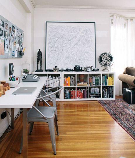 escritorio na sala decoreba design