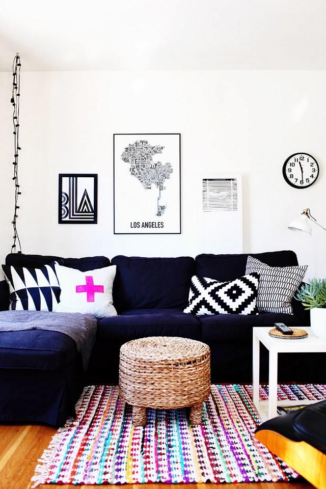 sofa dark blue decoreba-design