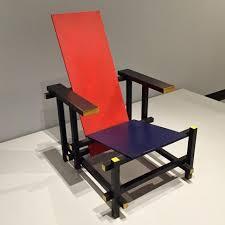 Cadeira Azul vermelho Gerrit Rietveld